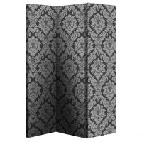 ARTHOUSE Black and Silver Damask 3 Panel Screen