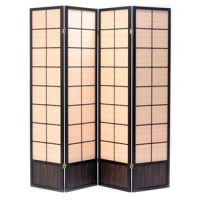 Matsu Black 4 Panel Room Divider or Screen