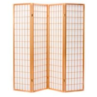 Shoji Natural 4 Panel Room Divider or Screen