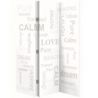 ARTHOUSE Spa Words 3 Panel Screen
