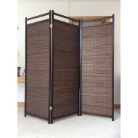 Aka Walnut 3 Panel Room Divider or Screen