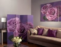 ARTHOUSE Plum Roses 4 Panel Screen