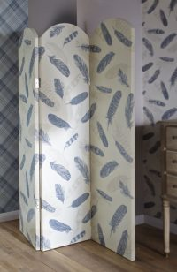ARTHOUSE Plume Soft Blue 3 Panel Screen