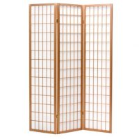 Shoji Natural 3 Panel Room Divider or Screen