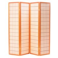 Akita Cherry 4 Panel Room Divider or Screen