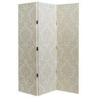 ARTHOUSE Cream Damask 3 Panel Screen