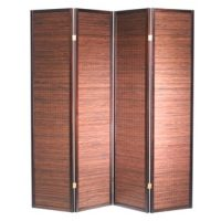 Sukuri Walnut 4 Panel Room Divider or Screen