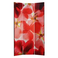 Red Rose and Petals 3 Panel Canvas Screen – PREMIER COLLECTION