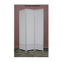 Singapore White 4 Panel Room Divider or Screen
