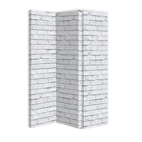 ARTHOUSE White Brick 3 Panel Screen